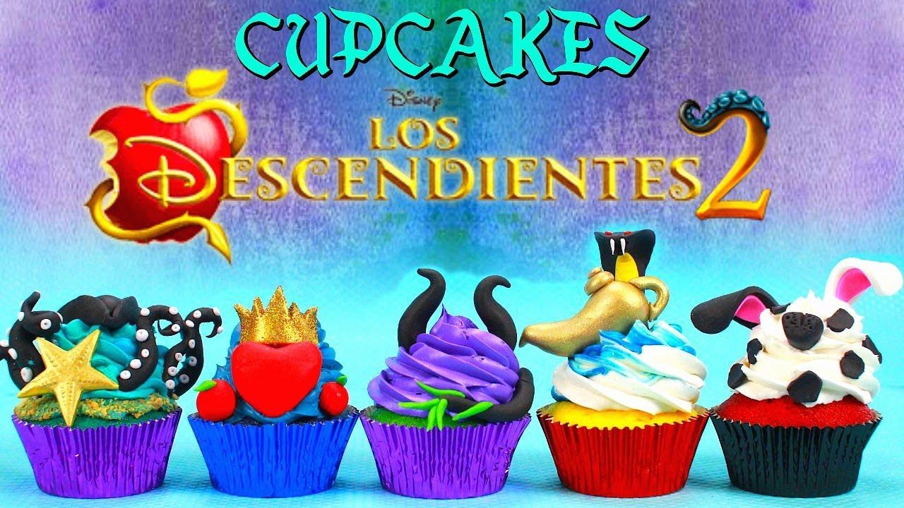 Cupcake De Los Descendientes 2 Uma Evie Mal Jay Y Carlos