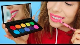 5 Ways To Turn Crayons Into Makeup!   Julia Gilman