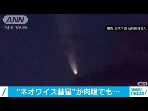 """「ネオワイズ彗星」くっきり!これぞ""""流れ星""""の姿(20/07/11)"""
