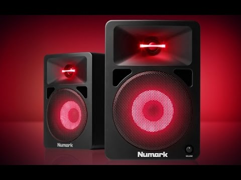 Numark N-Wave 580L Powered Desktop DJ Monitors with Pulsating Lights