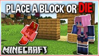 Minecraft BUT we Die if we Stop Building..