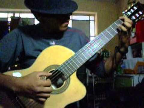 Guitarra peruana-festejo-bordoneo y arpegio...1ra parte