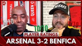 Arsenal 3-2 Benfica | DT Wants To Adopt Saka (Player Ratings)