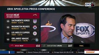 POSTGAME REACTION: Miami Heat at San Antonio Spurs 01/19/20