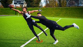 THE NASTIEST CATCHES YOULL EVER SEE.. DB vs WR 1ON1'S w/ DOCKERY! (ONE HAND CATCHES ONLY)