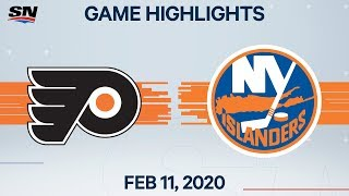 NHL Highlights | Flyers vs. Islanders - Feb. 11, 2020