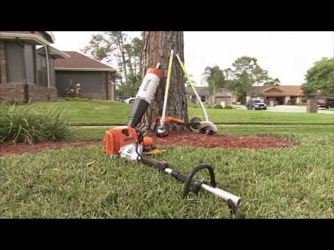 Stihl KM-AC Brushcutter With Mowing Head Attachment
