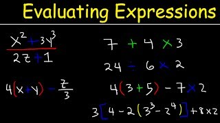 How To Evaluate Expressions With Variables Using Order of Operations