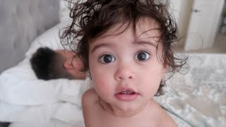 BABY REACTS TO DADDY TWERKING!!!