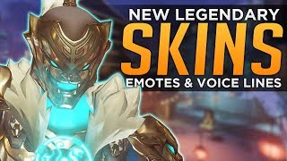 Overwatch: All NEW Legendary SKINS, Emotes & Voice Lines!