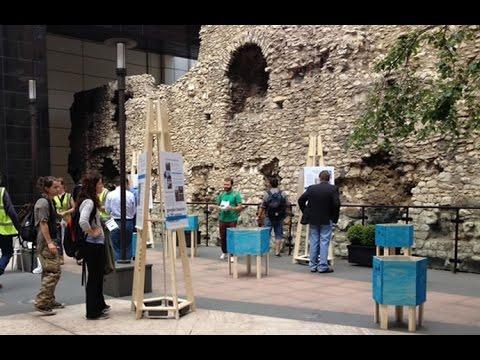 Excavation of Grange City Hotel's London Roman Wall