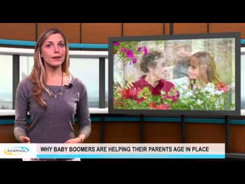 Why baby boomers are helping their parents age in place