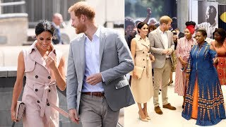 Meghan & Harry hailed as 'shining example for our youth' as they meet Nelson Mandela's granddaughter