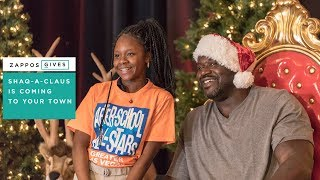 Shaq-a-Claus & Zappos For Good | Turning Gifts of New Toys into Smiles