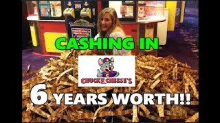 Cashing In 6 Years Worth of Saved Chuck E Cheese Tickets!