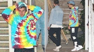 Justin Bieber Leaves Selena In The Dust... Meets Up With Baskin Champion At Church