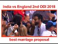 Viral: Man proposes to girlfriend during India vs England ODI at Lord's