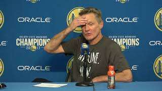 Steve Kerr Postgame Interview / GS Warriors vs Cavaliers / Dec 25