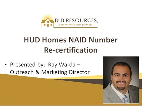 NAID Renewal HUD Homes NAID Number