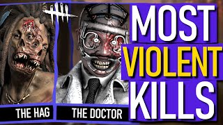 Dead By Daylight - The Most VIOLENT / Brutal KILLERS & HOW They KILL!