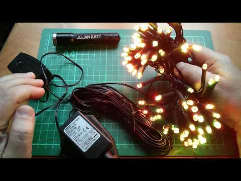 Christmas RGB LED Lights: 2 Wire Pulse Controlled
