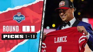 Pick 1-10: 3 Quarterbacks, The Highest Drafted TE, & A Late Trade!   2021 NFL Draft