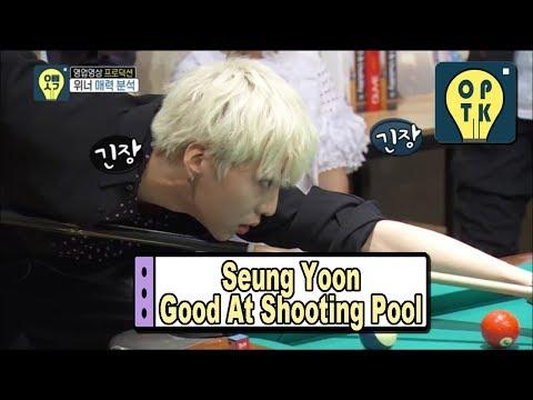 [Oppa Thinking - WINNER] Seung Yoon's Good At Shooting Pool 20170520