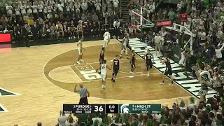 Big Ten Basketball Highlights: Purdue at Michigan State
