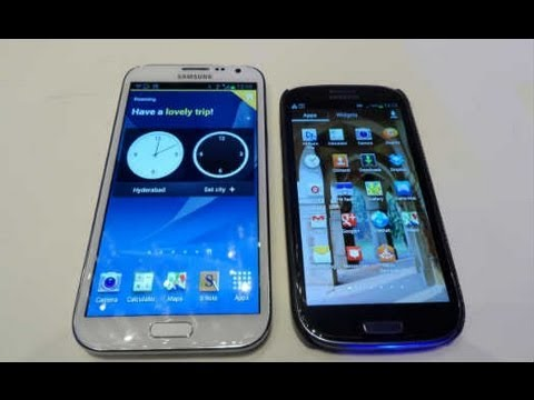 Samsung Galaxy Note II  Hands On Video