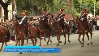 Martínez encabezó el acto por el 205to. aniversario del Regimiento de Granaderos a Caballo
