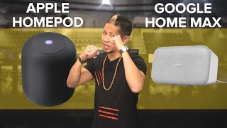 Apple HomePod vs. Google Home Max