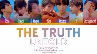 BTS (방탄소년단) - 'The Truth Untold (전하지 못한 진심)' (Feat. Steve Aoki) Lyrics [Color Coded Han|Rom|Eng]