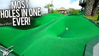 MOST HOLE IN ONES EVER AT THE BEST MINI GOLF COURSE IN THE WORLD!