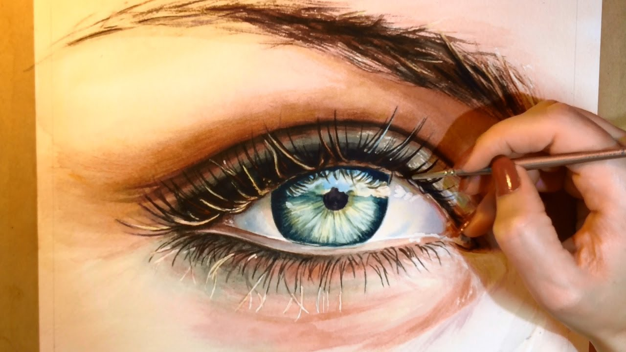 How to Paint a Realistic Eye - Watercolor Portrait ...  How to Paint a ...