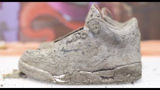 Cleaning The Dirtiest Jordan's Ever! $600 2001 Black Cement 3's Back To NEW!