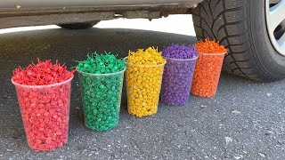 Crushing Crunchy & Soft Things by Car! EXPERIMENT: POP POP FIRECRACKERS vs CAR
