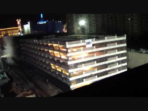 La demolizione del casinò O'Sheas a Las Vegas