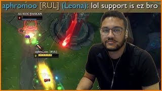 "Aphromoo : ""Support is Easy Bro"" - Best of LoL Streams #310"