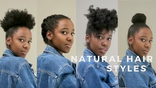 Natural Hairstyles | How to Style 4C/4B Hair