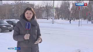 Омичи жалуются на плохую уборку улиц после снегопада