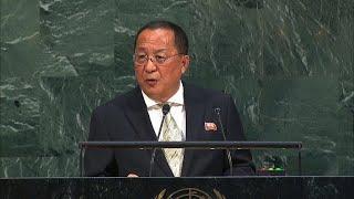 North Korea's foreign minister speaks at U.N.