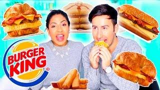 Fast Food BURGER KING BREAKFAST Taste Test!