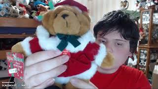 musical christmas music box bear