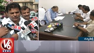 TS ministers, KTR, Jupally meet Union ministers at Delhi..