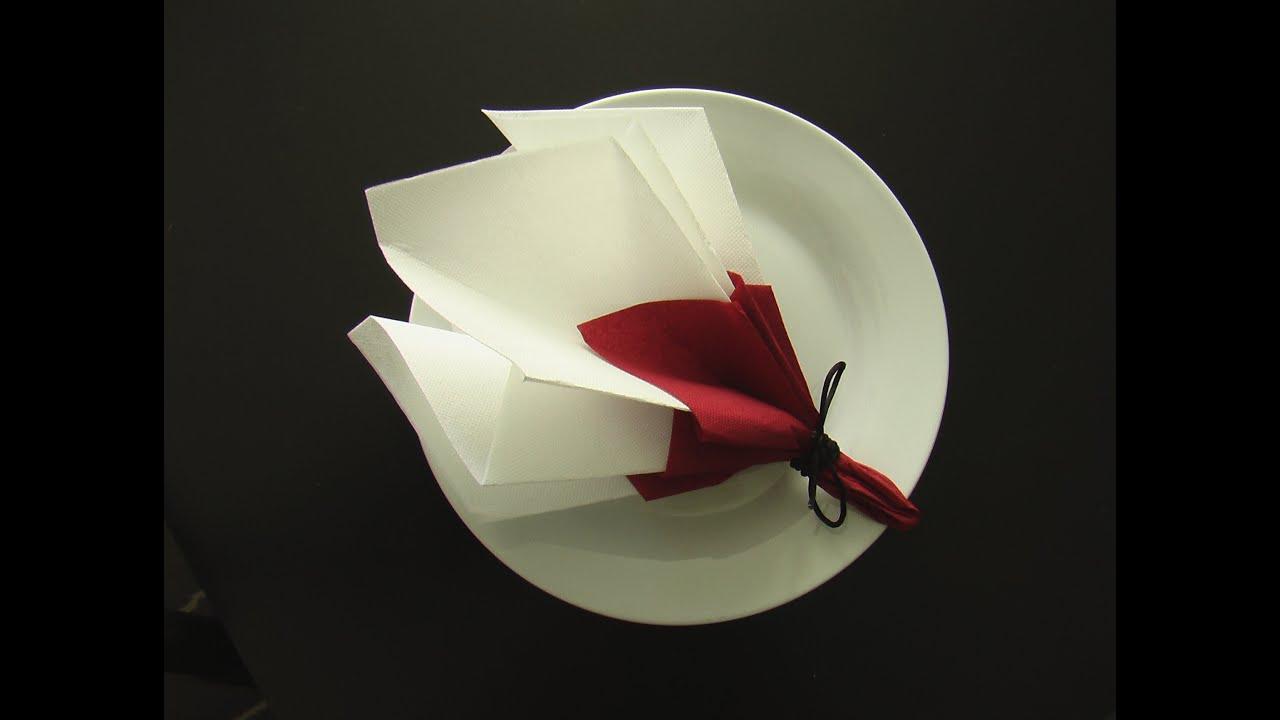 pliage serviette d coration table bouquet de printemps youtube. Black Bedroom Furniture Sets. Home Design Ideas