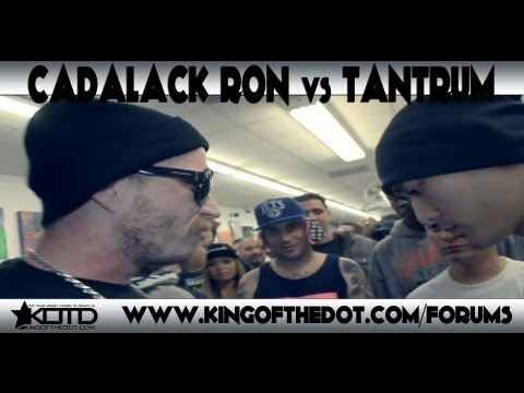 Kotd Rap Battle Cadalack Ron Vs Tantrum Co Hosted By Dj King