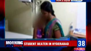 6-year-old girl beaten up by teacher in Hyderabad..