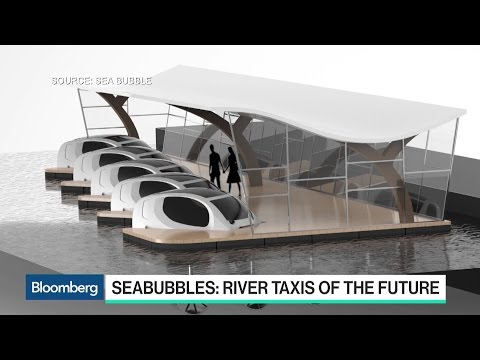 SeaBubbles' Flying River Taxi of the Future
