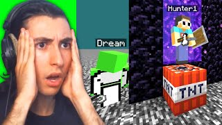 Reacting to Dream VS 4 Hunters in Minecraft...