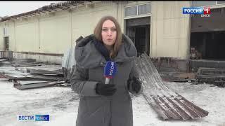 В МЧС назвали причины пожара на продуктовом складе в Старом Кировске
